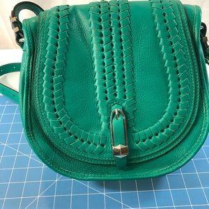 ORYANY Amanda Green Italian leather crossbody bag